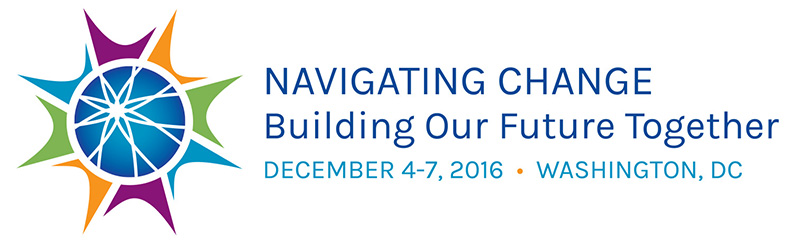 AUCD logo, Navigating Change: Building our Future. December 4-7, 2016, Washington DC