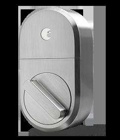 Large silver lock