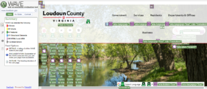 Screen shot of Loudon County homepage