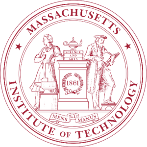 Massachusetts Institute of Technology seal in red on white background.