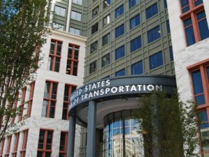 Front door of United States Dept of Transportation