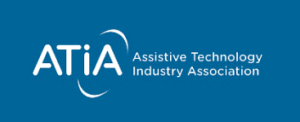 Blue screen with with letters ATI and Assistive Technology Industry Association