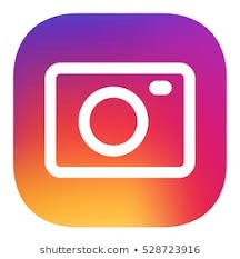 Instagram logo white camera outline in orange and red background