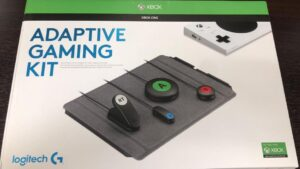 close up of Adaptive gaming kit box.